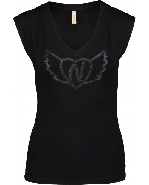 Womens elastic t-shirt WINGED