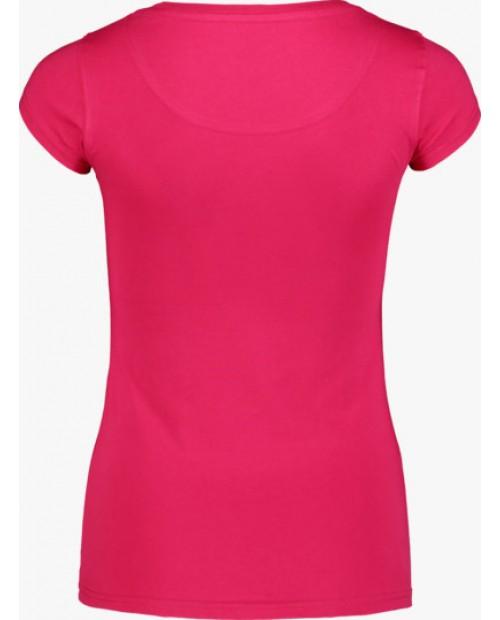Womens cotton t-shirt notch