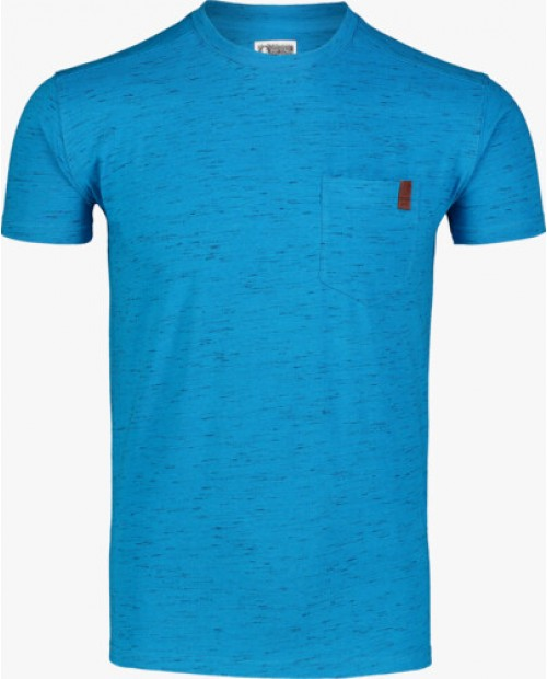 MEN'S BLUE COTTON T-SHIRT ANNEAL - NBSMT7261