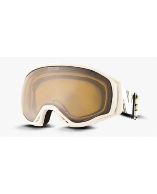 White ski goggles look