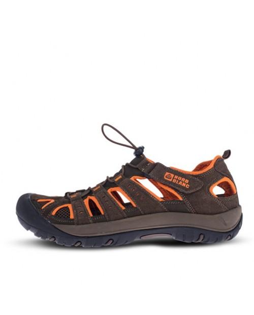 Mens outdoor leather sandal ORBIT